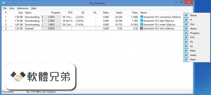 PicoTorrent (64-bit) Screenshot 2